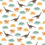 Silhuetas dos dinossauros Fotografia de Stock