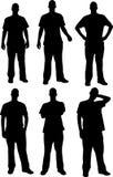 Silhuetas dos homens Imagens de Stock