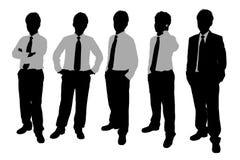 Silhuetas dos homens de negócios Fotografia de Stock Royalty Free
