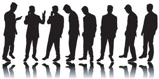 Silhuetas dos homens de negócio Fotos de Stock Royalty Free