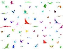Silhuetas dos pássaros Fotografia de Stock