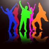 Silhuetas dos povos da dança Foto de Stock Royalty Free