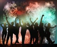 Silhuetas dos povos da dança Imagens de Stock
