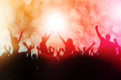 Silhuetas dos povos da dança Imagem de Stock