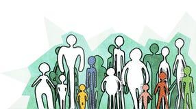 Silhuetas dos povos no fundo branco Imagem de Stock Royalty Free