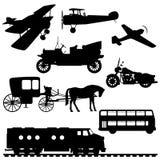 Silhuetas dos veículos ilustração stock