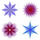 Silhuetas florais abstratas Fotos de Stock Royalty Free