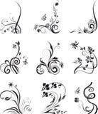 Silhuetas florais, elemento para o projeto, vetor ilustração do vetor
