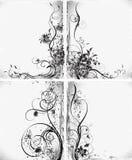 Silhuetas florais, elemento para o projeto, vetor ilustração royalty free