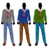 Silhuetas masculinas do Mannequin da forma Imagens de Stock