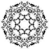 Silhuetas pretas para o projeto caligráfico Quadros do vetor isolados no branco Elemento do projeto do menu e do convite Fotos de Stock
