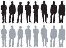 Silhuetas - tipos diferentes dos homens Imagem de Stock