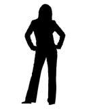 silhuette biznesowa kobieta Fotografia Royalty Free