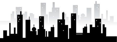 Silhuette van de stad Stock Illustratie