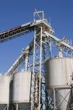 Sili dell'elevatore di granulo Immagine Stock Libera da Diritti