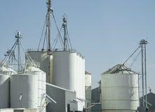 Sili di granulo per riso Fotografia Stock Libera da Diritti
