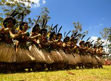 Sili Muli tribe participantes at Mount Hagen festival at Papua New Guinea royalty free stock photo