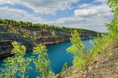 Silica abandoned quarry Royalty Free Stock Images
