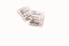 Silica gel. Isolated on white background Royalty Free Stock Photo
