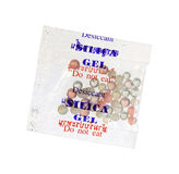 Silica gel in bag Stock Image