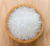 Silica gel in wood bowl. Silica gel in a wood bowl Stock Photography