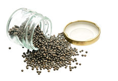 Silica gell beads - desiccant, humidity control over white Stock Photos