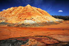 Silica mine pollution Royalty Free Stock Images