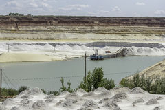 Silica sand quarry Royalty Free Stock Photo