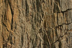 Siliceous gangue. Cliff of weathered siliceous gangue Royalty Free Stock Images