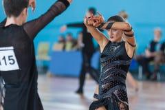 Silich Sergey e Borovskaya Olga Perform Youth Latin-American Program Fotografia de Stock