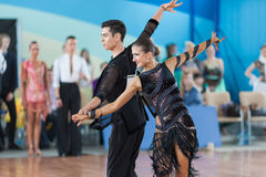 Silich Sergey und Borovskaya Olga Perform Youth Latin-American Program Stockfotos