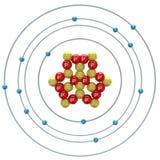 Silicium-Atom auf weißem Hintergrund Lizenzfreie Stockfotografie