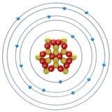 Silicium atom på en vit bakgrund Arkivfoton