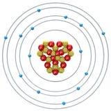 Silicium atom på en vit bakgrund Royaltyfri Fotografi