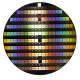 Siliciumwafeltje Stock Afbeelding