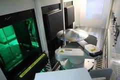 Siliciumwafeltje stock foto
