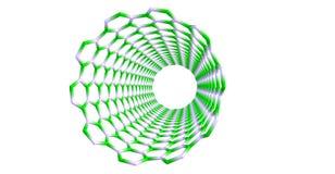 Silicon carbide nanotube on white background Royalty Free Stock Images