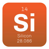 Silicon  chemical element Stock Image