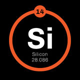Silicon  chemical element Royalty Free Stock Image