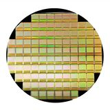 Silicon disk with chips royalty free stock photos