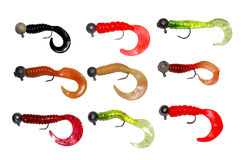 Silicon Fishing Baits (Twisters) Royalty Free Stock Photos