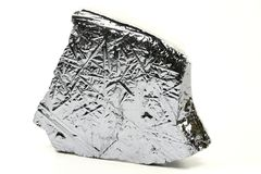 Silicon. High purity polycrystalline silicon from Freiberg/ Germany isolated on white background Royalty Free Stock Photos