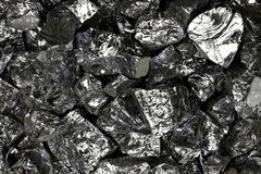 Silicon. High purity polycrystalline silicon from Freiberg/ Germany for background use Stock Photos