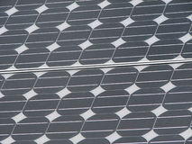Silicon solar panel. Silicon photovoltaic solar panel background Stock Images