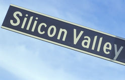 Дорожный знак Silicon Valley Стоковые Фотографии RF