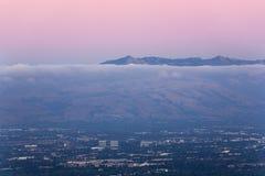 Silicon Valley au crépuscule Images libres de droits