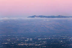 Silicon Valley at Dusk Royalty Free Stock Images