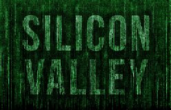 Silicon Valley - matrix message royalty free stock images