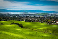 Silicon Valley panorama from Mission Peak Hill Royalty Free Stock Image