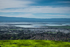Silicon Valley panorama from Mission Peak Hill Stock Photo